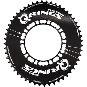 Rotor Q-Ring Road Aero Chain Ring 110mm 5-Arm outside black